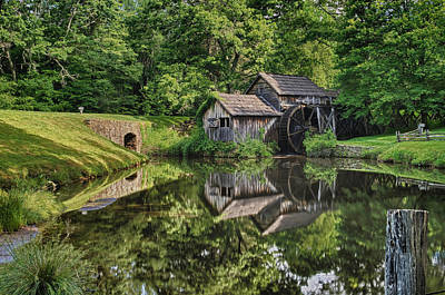 Photograph - Mabry Mill And Pond With Reflection by Lori Coleman