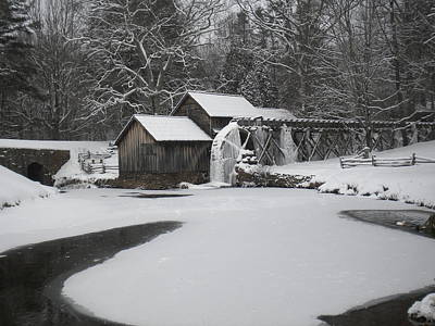 Photograph - Mabry Mill On Ice by Diannah Lynch