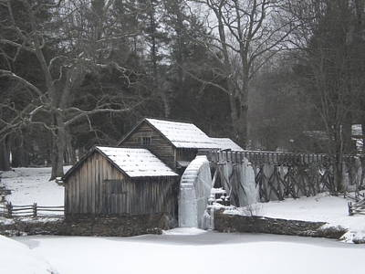 Photograph - Mabry Mill Winter Scene by Diannah Lynch