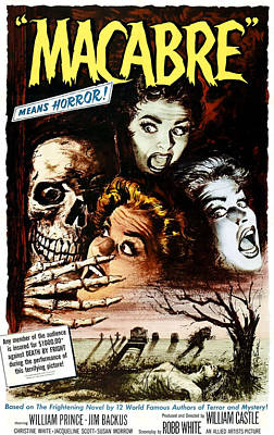 1958 Movies Photograph - Macabre, 1958 by Everett