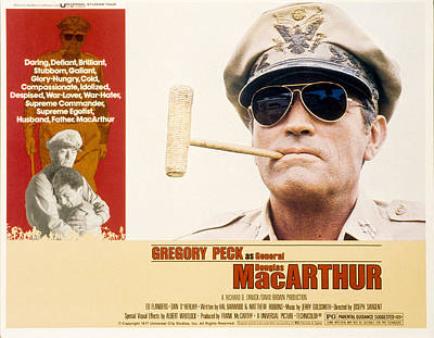 Subject Poster Art Photograph - Macarthur, Gregory Peck, 1977 by Everett