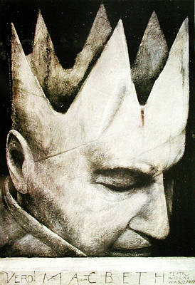 Mixed Media - Macbeth By Giuseppe Verdi by Wiktor Sadowski