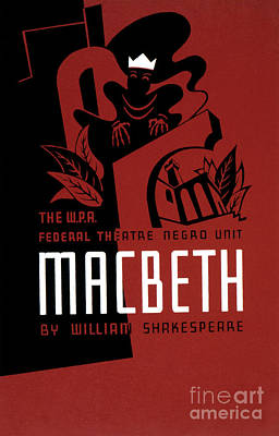 Photograph - Macbeth Poster, 1936 by Granger