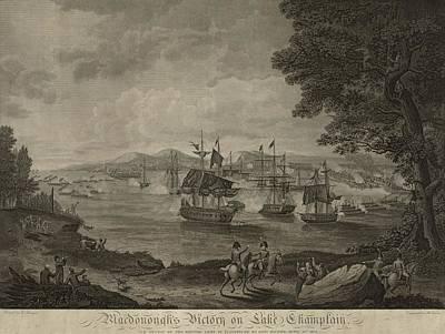 Macdonoughs Victory On Lake Champlain Art Print
