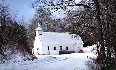 Photograph - Macedonia Church In Winter by Duane McCullough