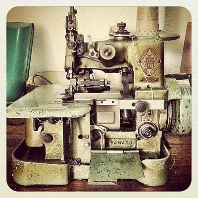 Machine Wall Art - Photograph - #machine #sewing #instagram #earlybird by Remy Asmara