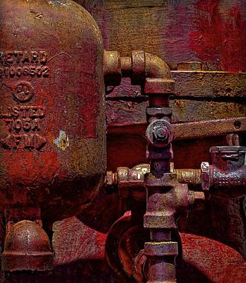 Machinery Grunge Art Print