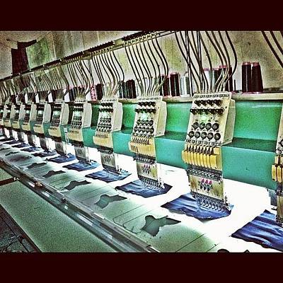 Machine Photograph - #machines #backpocket #denim #stitches by Remy Asmara
