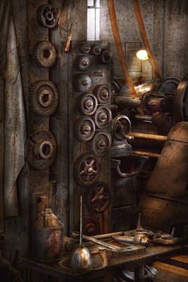 Tool Maker Photograph - Machinist - Steampunk - You Got Some Good Gear There by Mike Savad