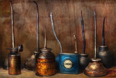 Machinist - Tools - Lubrication Dispensers  Art Print by Mike Savad