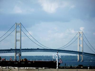 Photograph - Mackinac Bridge by Beth Akerman