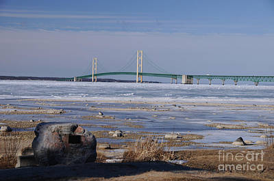 Photograph - Mackinac Bridge Southwest by Ronald Grogan