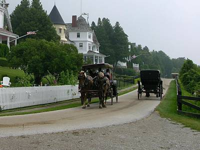 Photograph - Mackinac Island West Bluff Drive by Keith Stokes