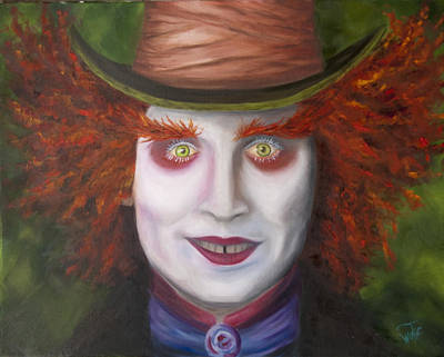 Mad As A Hatter Art Print by Thea Wolff
