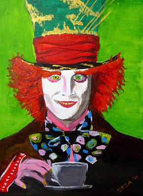 Mad Hatter Painting - Mad Hatter by Deza Villanueva