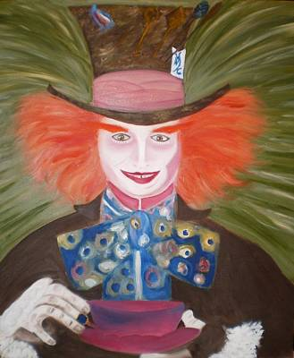 Mad Hatter  Art Print by Shannon Schow