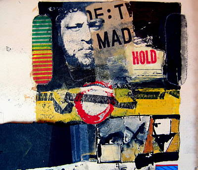Self-portrait Mixed Media - Mad Hold by Cliff Spohn