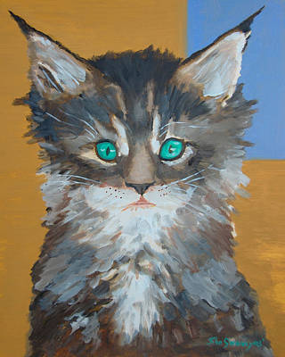 Painting - Mad Kitty by John  Sweeney