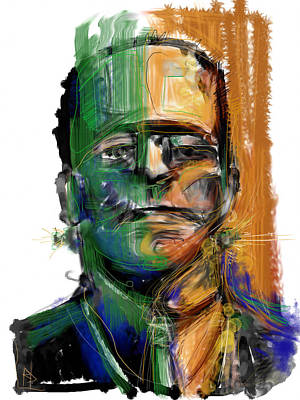 Frankenstein Mixed Media - Mad Man by Russell Pierce
