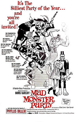 1967 Movies Photograph - Mad Monster Party, 1967 by Everett