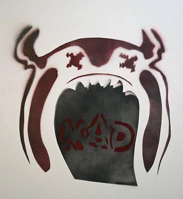 Mad O Rama Painting - Mad O Rama Dark Red by Patricia Arroyo