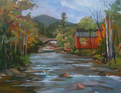 Painting - Mad River And Campton Bridge by Nancy Griswold