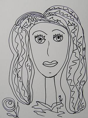 Primitive Drawing - Maddy Rose by Mary Carol Williams