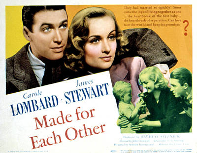 Made For Each Other, James Stewart Art Print by Everett