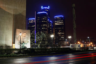 Made In Detroit Michigan - Woodward And Jefferson At Night Original by Gordon Dean II