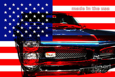 Made In The Usa . Pontiac Gto Art Print by Wingsdomain Art and Photography