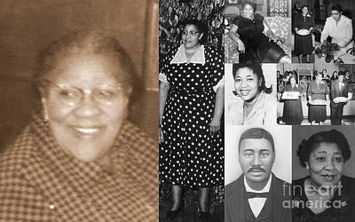 Photograph - Madge's Mother And Grandfather by Angela L Walker
