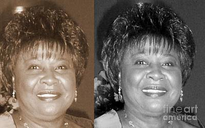 Photograph - Madge's Sister Aunt Shirley by Angela L Walker