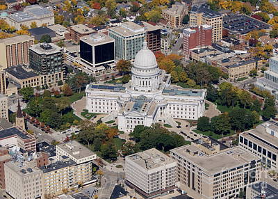 Photograph - M-005 Madison Wisconsin Capitol by Bill Lang