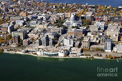 Photograph - M-001 Monona Terrace And Capitol  by Bill Lang