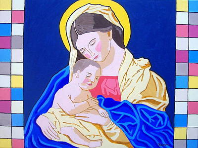 Madonna And Child Original by Eamon Reilly