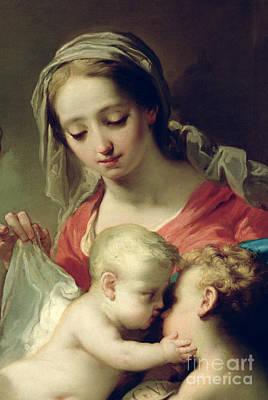 Embrace Painting - Madonna And Child by Gaetano Gandolfi