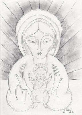 Madonna And Child Art Print by John Keaton