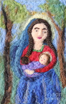 Madonna And Child Art Print by Nicole Besack