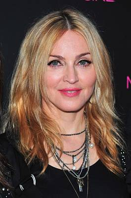 Charm Necklace Photograph - Madonna At In-store Appearance For The by Everett