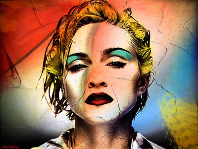 Famous Women Painting - Madonna  by Mark Ashkenazi