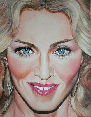 Portraits By Timothe Painting - Madonna by Timothe Winstead