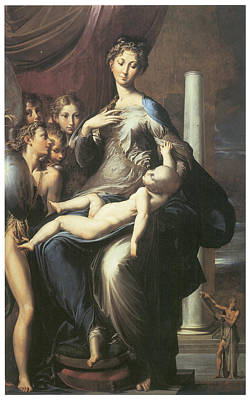Madonna With The Long Neck Art Print by Parmigianino