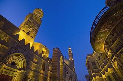 Madrasa Photograph - Madrasa Of Barquq Mosque Illuminated At by Axiom Photographic