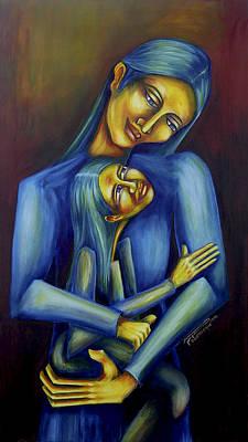 Painting - Madre E Hija by Virginia Palomeque