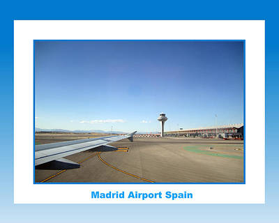 Photograph - Madrid Airport Spain by John Shiron
