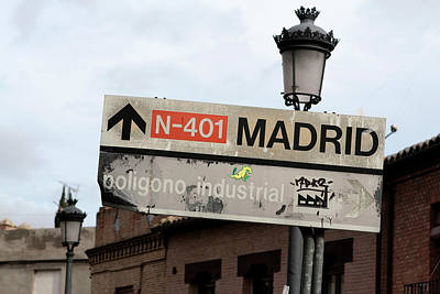 Photograph - Madrid Street Sign by Lorraine Devon Wilke