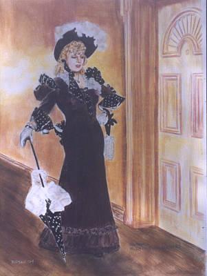 Drawing - Mae West by Bryan Bustard