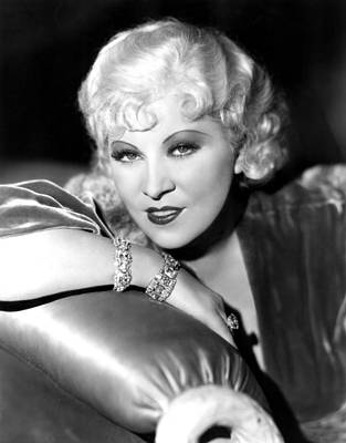 Mae West, Portrait Art Print by Everett