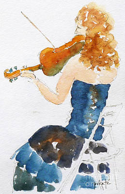 Oceania Painting - Magdalena On Viola by Pat Katz
