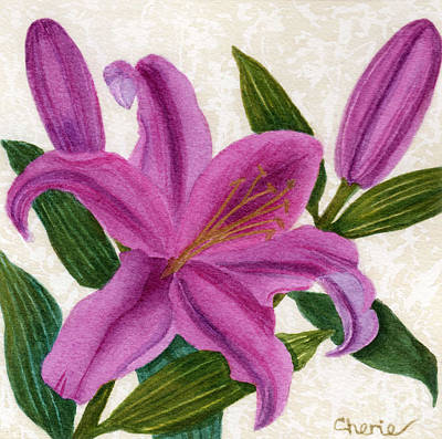 Painting - Magenta Lily by Vikki Wicks